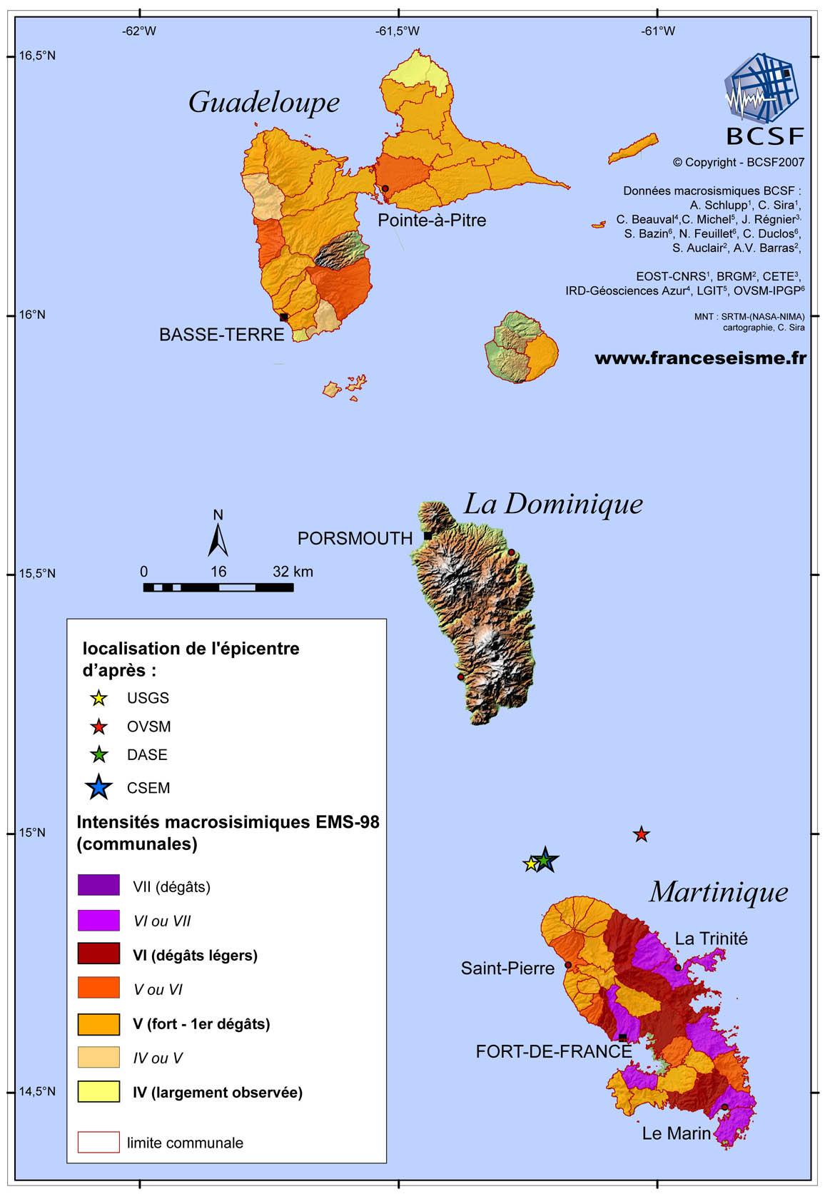 BCSF   Détails du séisme